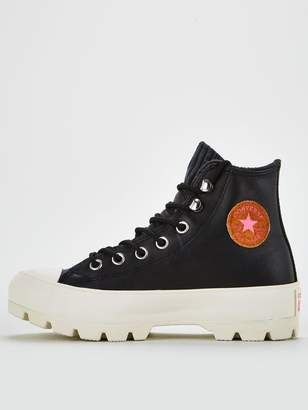 Converse Chuck Taylor All Star Lugged Winter Retrograde Leather Hi - Black