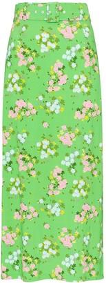 BERNADETTE Small Roses print midi skirt