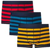 John Lewis Rugby Stripe Trunks, Pack Of 3