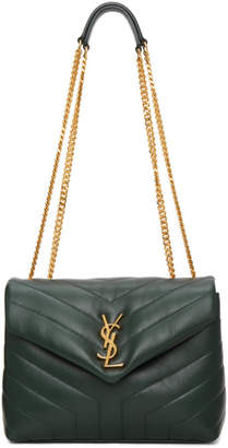 Saint Laurent Green Small Loulou Bag