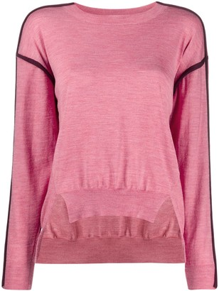 Stella McCartney Contrast-Seam High-Low Sweater