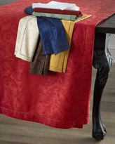 "Sferra Plume Jacquard 104"" Round Cloth"