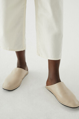 Cos Lined Leather Slippers