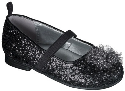 Toddler Girl's Genuine Kids from OshKoshTM Delrae Glitter Ballet Flat - Black