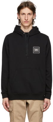Burberry Black Logo Applique Kenford Hoodie