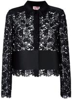 Lanvin embroidered panel shirt