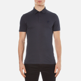 Versace Collection Small Medusa Polo Shirt Blu Notte