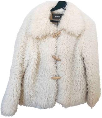 Reformation White Faux fur Coats