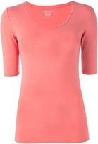 Majestic Filatures scoop neck T-shirt - women - Spandex/Elastane/Viscose - 1