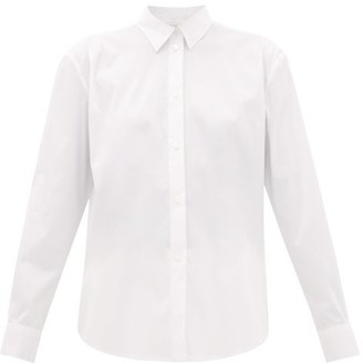 LA COLLECTION Emilia Cotton-blend Poplin Shirt - Ivory