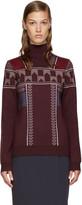 Peter Pilotto Burgundy Ski Knit Pullover