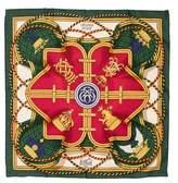 Hermes Grande Tenue Silk Pocket Square