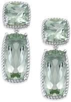 Macy's Green Amethyst Drop Earrings (14 ct. t.w.) in Sterling Silver