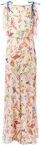 RED Valentino bird print jumpsuit - women - Silk/Polyester - 40