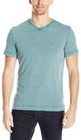 Calvin Klein Jeans Men's Short Sleeve Weekend Acid Wash V-Neck T-Shirt