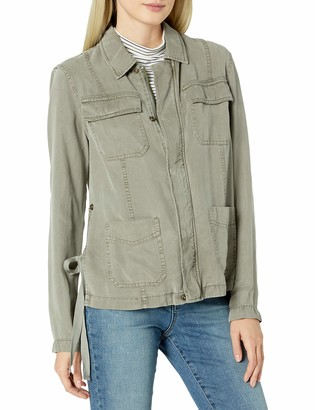 Pam & Gela Women's Cargo Jacket with Side Ties