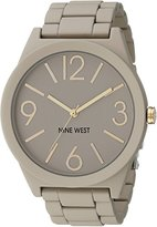 Nine West Women's NW/1678NTNT Rubberized Gray Watch with Link Bracelet