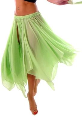 Miss Belly Dance Women's Women Belly Dance Accessories 13 Panel Chiffon Skirt Lime Green One Size Lime Green One Size Lime Green
