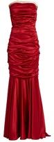 Dolce & Gabbana Ruched strapless silk-blend satin gown