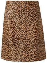 LK Bennett Daxon Animal Calf Leather Skirt