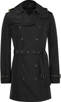 Burberry Hooded Waterproof Shell Trench Coat