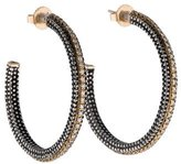 Moritz Glik Two-Tone Textured Hoop Earrings
