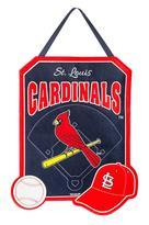 Evergreen Cardinals Door Decor