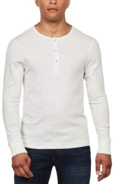 G Star Raw Men's Long-Sleeve Slim-Fit Henley, Created For Macy's
