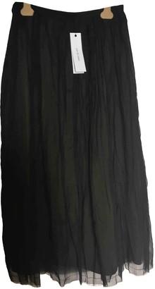 Pas De Calais Black Cotton Skirt for Women
