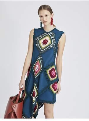 Oscar de la Renta Patchwork Crochet Skirt