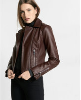Express Minus the) leather pebbled zip moto jacket