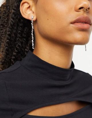 Pieces drop star earrings in silver