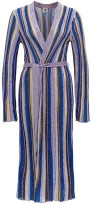 M Missoni Glitter Striped Long Knit Cardigan