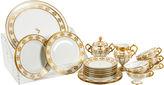One Kings Lane Vintage Limoges Porcelain Luncheon Set, 22 Pcs