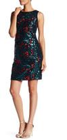 Chetta B Sleeveless Embellished Floral Dress