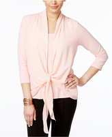 NY Collection Layered-Look Draped Blouse