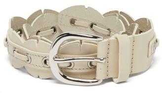 Isabel Marant Tany Eyelet Leather Belt - White