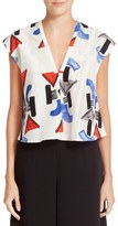 Rachel Comey 'Boone' Cotton & Silk Crop Top