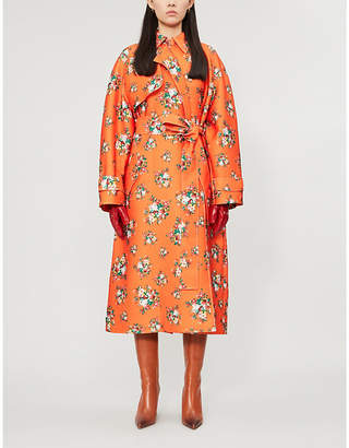 Emilia Wickstead Yves floral-print woven wrap coat