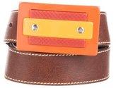 Miu Miu Chocolate Leather Belt