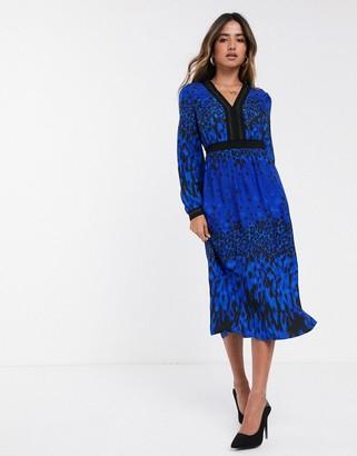 Ted Baker Maryema topaz print leopard midi dress