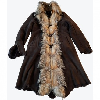 K-Yen K Yen Brown Rabbit Coat for Women