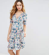 Asos Maternity - Nursing Asos Maternity Nursing Wrap Tea Dress In Ditsy Floral