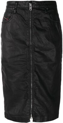 Diesel High Waisted Zipped Skirt