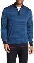 Bugatchi Slim Fit Lightweight Quarter Zip Down Sweater