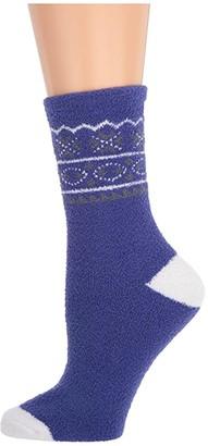Karen Neuburger Fair Isle Novelty Sock (Dark Peri Fair Isle) Women's Crew Cut Socks Shoes