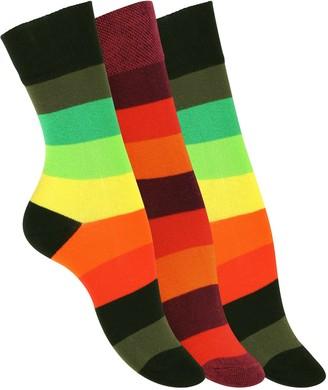 """Van Cleef & Arpels 3 Pairs of LADIES Cotton Socks""""Rainbow"""""""