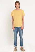 Nudie Jeans Raw Hem Tee In Yellow