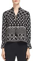 Whistles Aaliyah Printed Silk Top