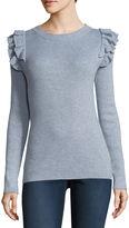 STYLUS Stylus Long Sleeve Crew Neck Cotton Pullover Sweater